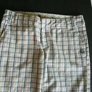 Element Shorts - White checked shorts by Element Skateboard co.